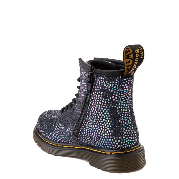 alternate view Dr. Martens 1460 8-Eye Metallic Spot Boot - Toddler - BlackALT1