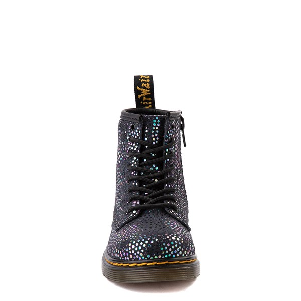 alternate view Dr. Martens 1460 8-Eye Metallic Spot Boot - Toddler - BlackALT4