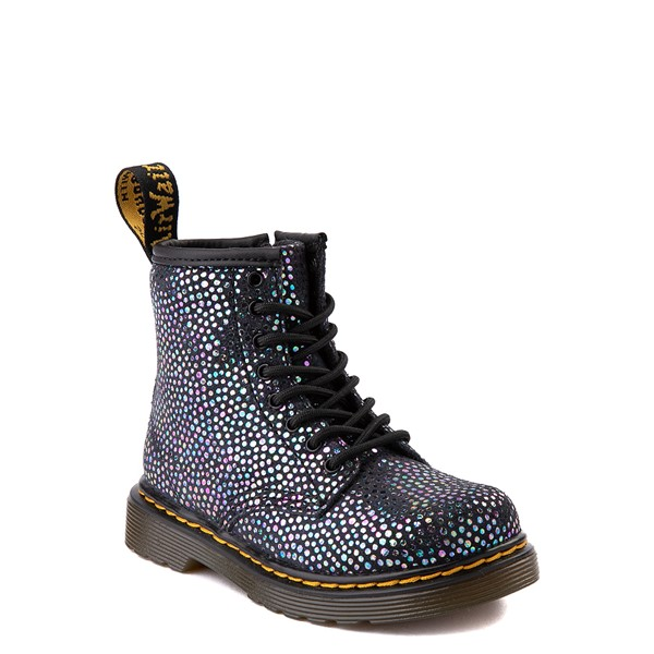 alternate view Dr. Martens 1460 8-Eye Metallic Spot Boot - Toddler - BlackALT5