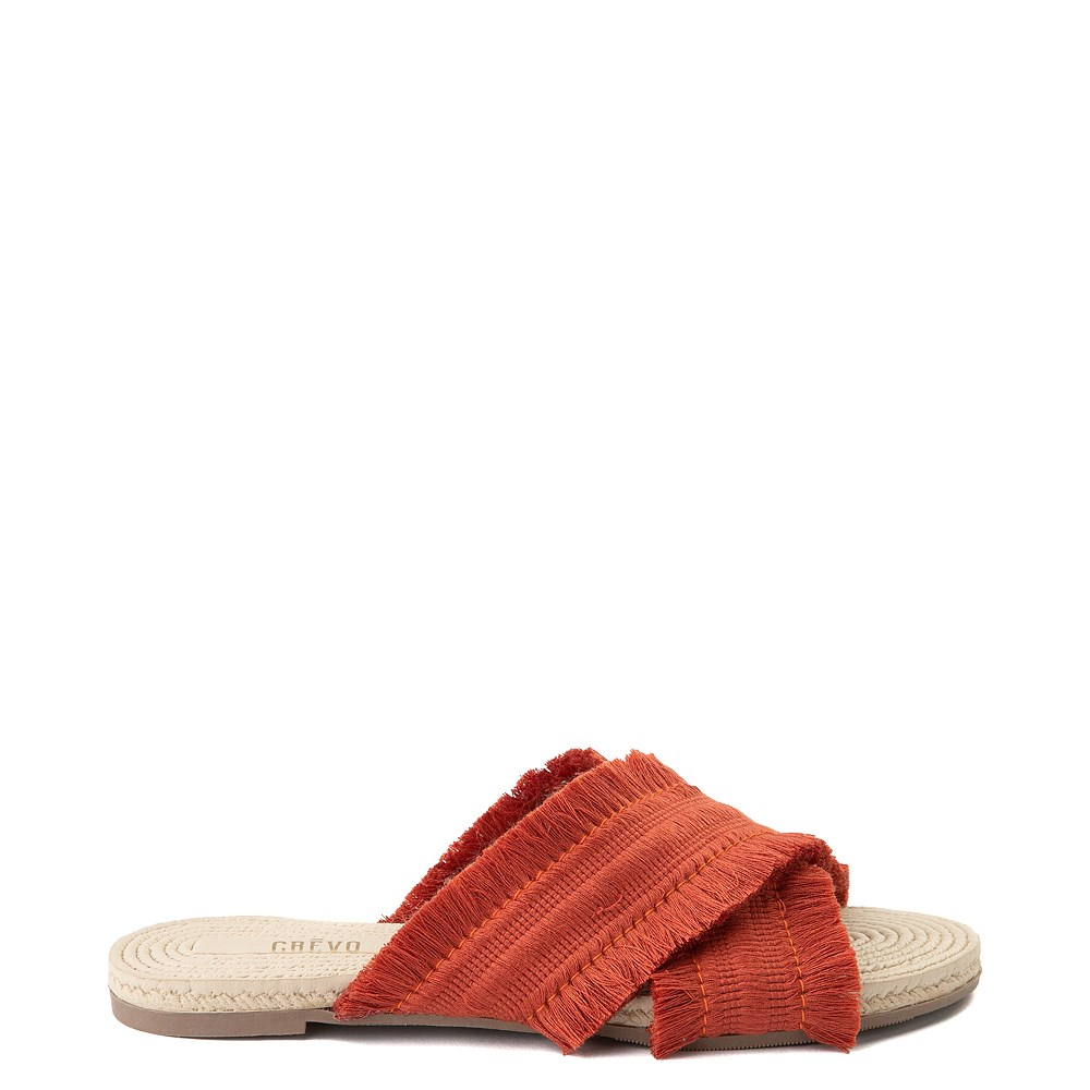 Womens Crevo Monroe Slide Sandal - Orange