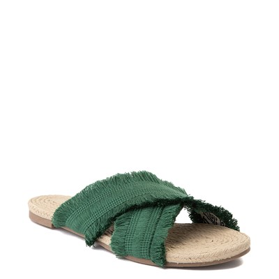 Alternate view of Womens Crevo Monroe Slide Sandal - Green