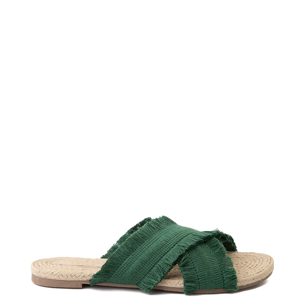 Womens Crevo Monroe Slide Sandal - Green
