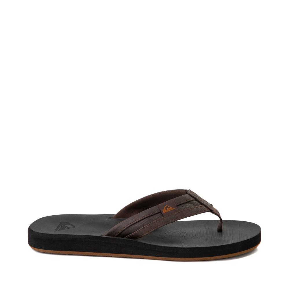 Mens Quiksilver Carver Squish Sandal - Brown / Black