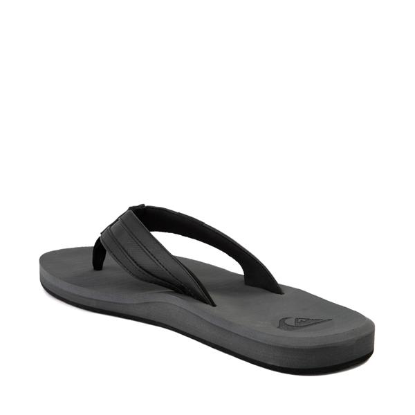 alternate view Mens Quiksilver Carver Squish Sandal - Black / GrayALT1