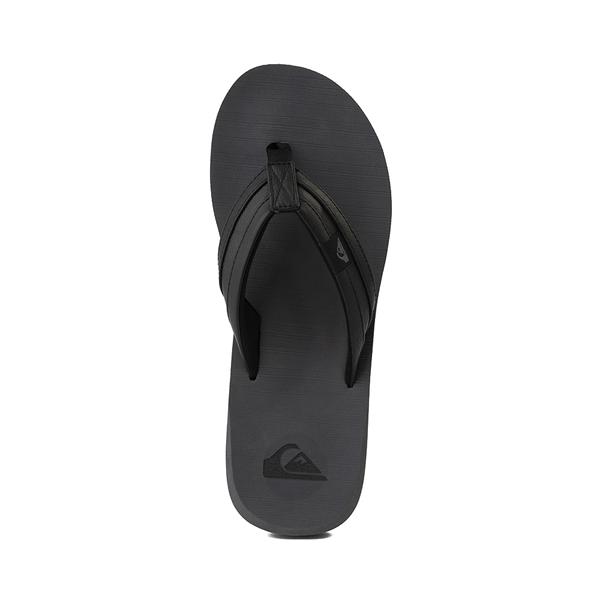 alternate view Mens Quiksilver Carver Squish Sandal - Black / GrayALT2