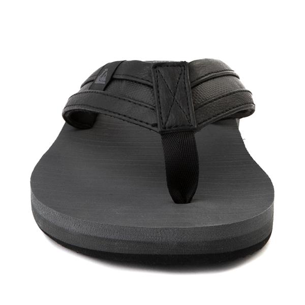 alternate view Mens Quiksilver Carver Squish Sandal - Black / GrayALT4