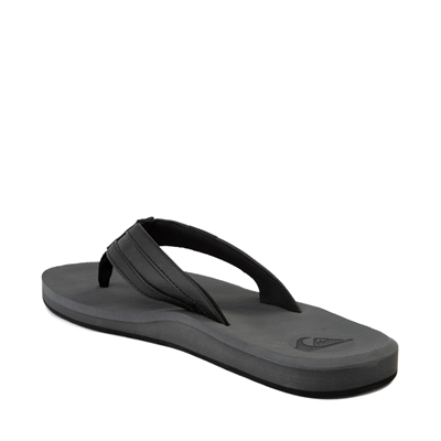 Alternate view of Mens Quiksilver Carver Squish Sandal - Black / Gray