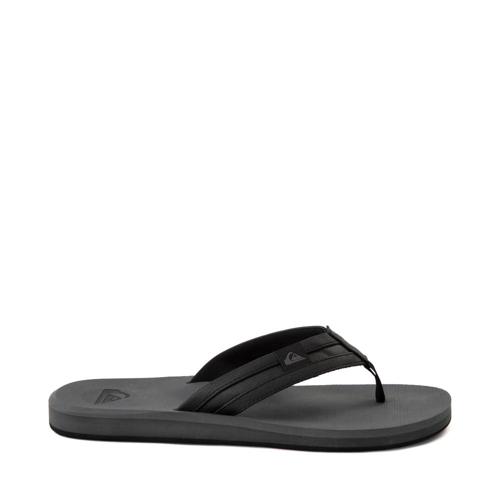 Mens Quiksilver Carver Squish Sandal - Black / Gray