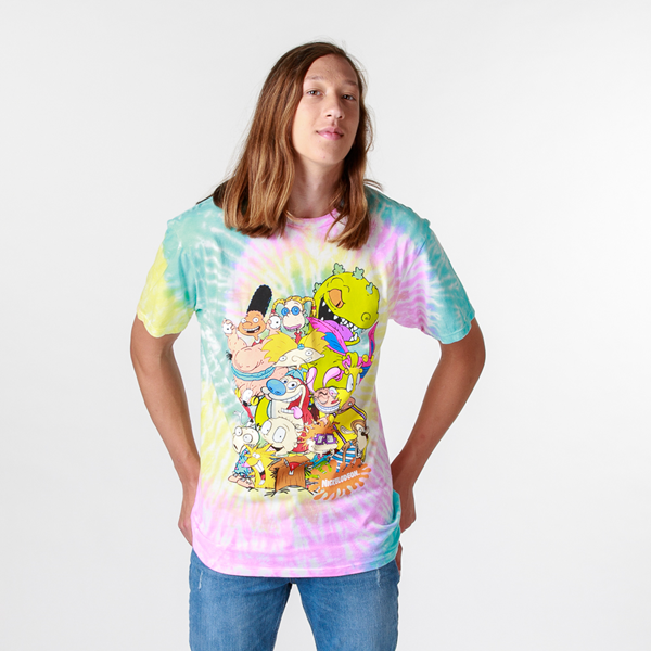 alternate view Mens Nickelodeon Crew Tee - Tie DyeALT1