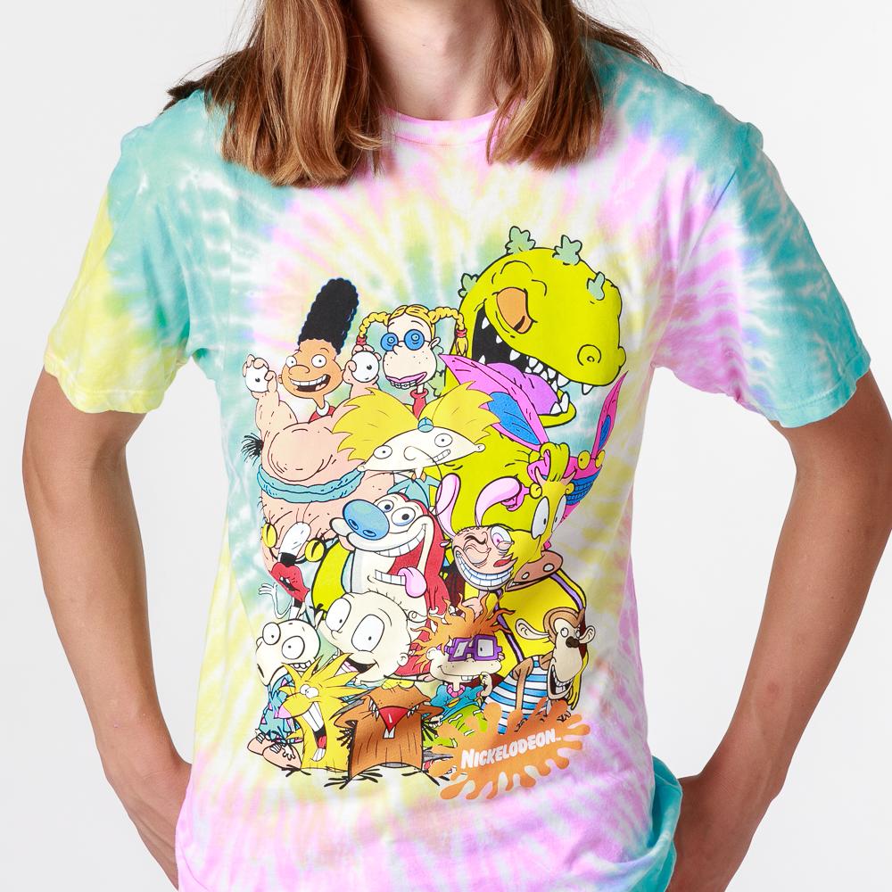 Mens Nickelodeon Crew Tee - Tie Dye