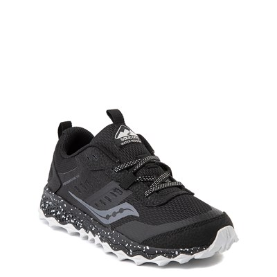 Alternate view of Saucony Peregrine 10 Shield Athletic Shoe - Little Kid / Big Kid - Black