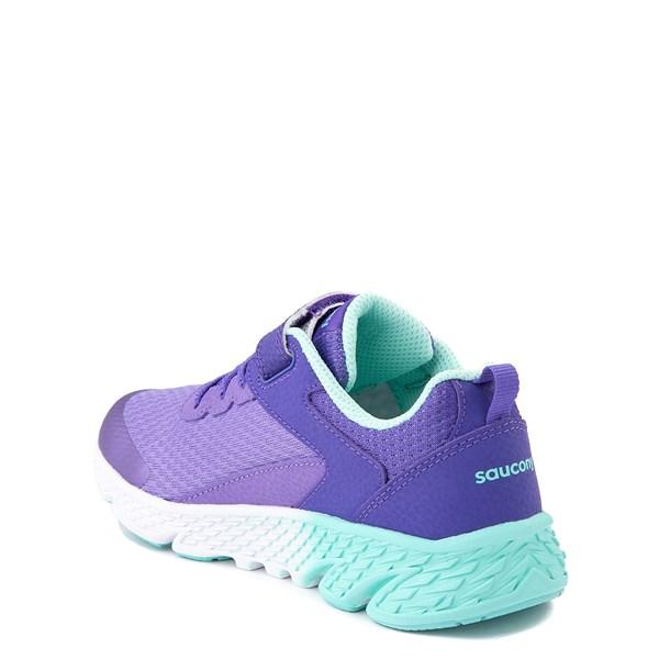 alternate view Saucony Wind A/C Athletic Shoe - Little Kid / Big Kid - PurpleALT2