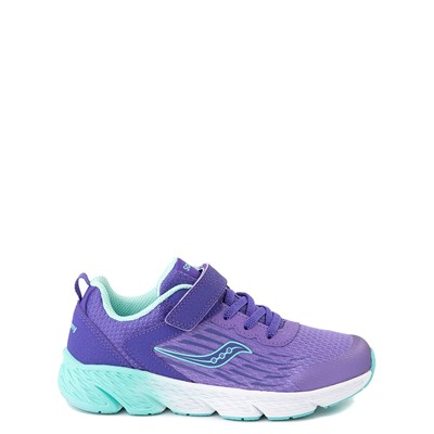 Main view of Saucony Wind A/C Athletic Shoe - Little Kid / Big Kid - Purple
