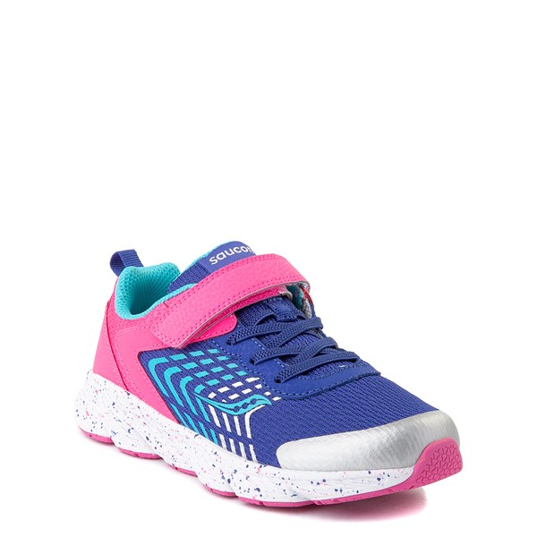 alternate view Saucony Wind A/C Athletic Shoe - Little Kid / Big Kid - Pink / BlueALT1