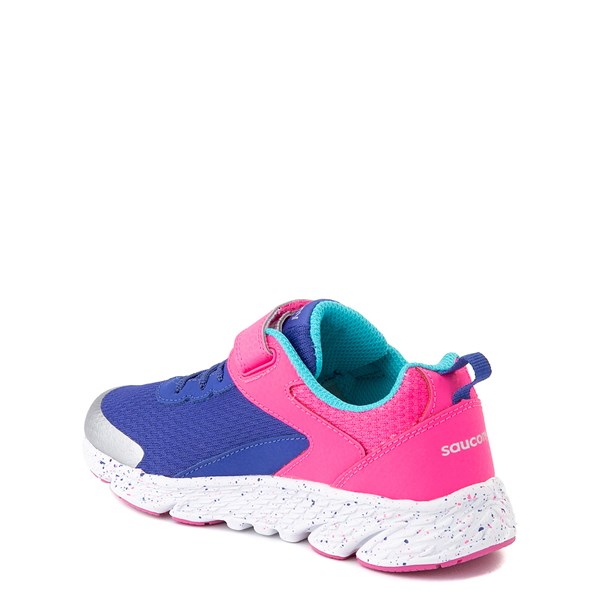 alternate view Saucony Wind A/C Athletic Shoe - Little Kid / Big Kid - Pink / BlueALT2