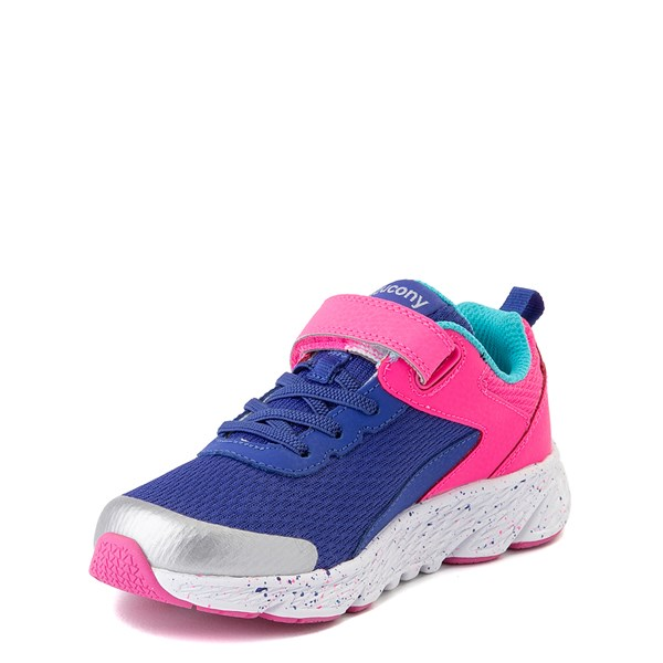 alternate view Saucony Wind A/C Athletic Shoe - Little Kid / Big Kid - Pink / BlueALT3