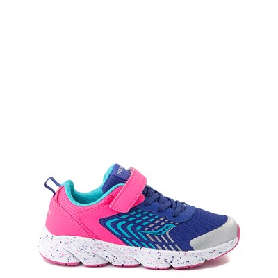 Main view of Saucony Wind A/C Athletic Shoe - Little Kid / Big Kid - Pink / Blue