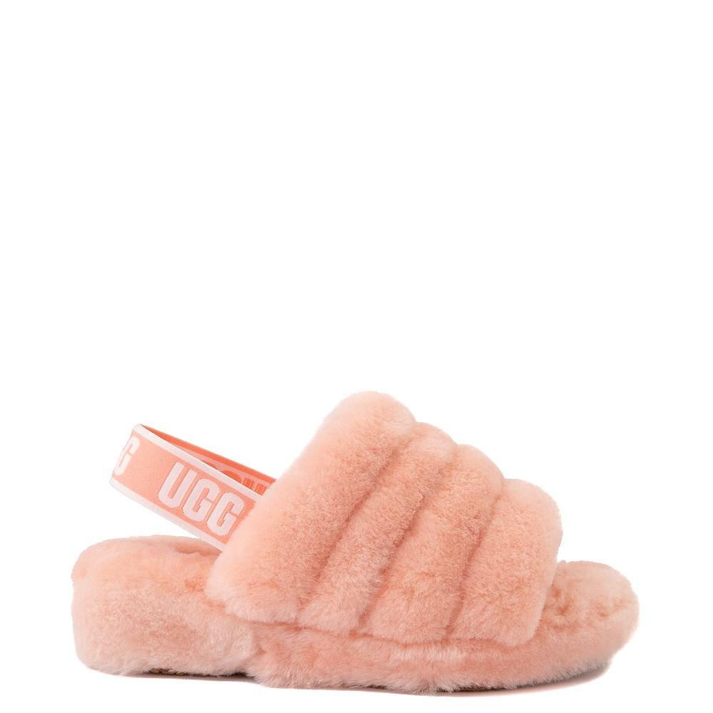 Womens UGG® Fluff Yeah Slide Sandal - Beverly Pink