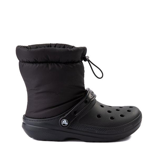 Main view of Crocs Classic Fuzz-Lined Neo Puff Boot - Black