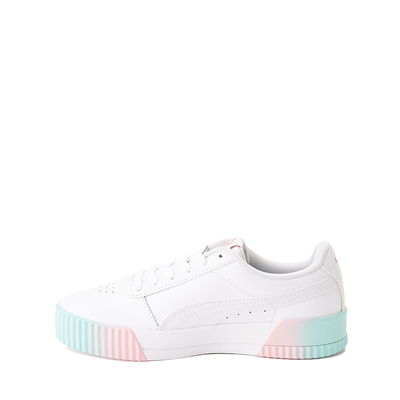 Alternate view of Puma Carina Athletic Shoe - Little Kid / Big Kid - White / Pink / Turquoise