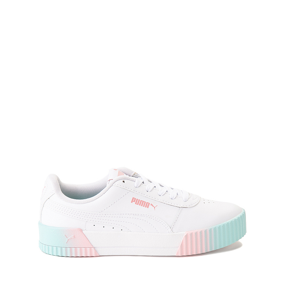 Puma Carina Athletic Shoe - Little Kid / Big Kid - White / Pink / Turquoise