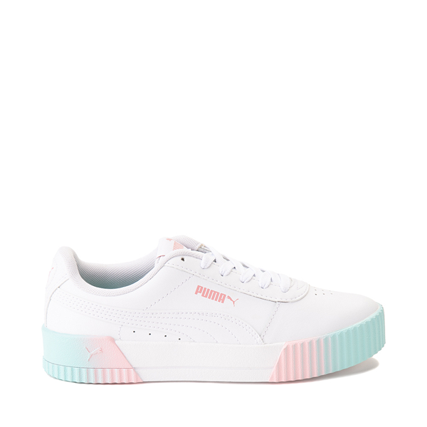 Puma Carina Athletic Shoe - Big Kid - White / Pink / Turquoise
