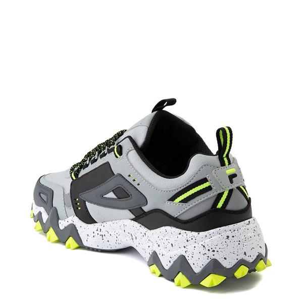 alternate view Mens Fila Oakmont TR Athletic Shoe - Highrise / Castlerock / Safety YellowALT2
