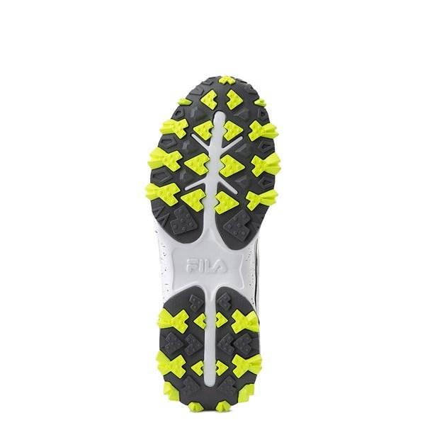 alternate view Mens Fila Oakmont TR Athletic Shoe - Highrise / Castlerock / Safety YellowALT5
