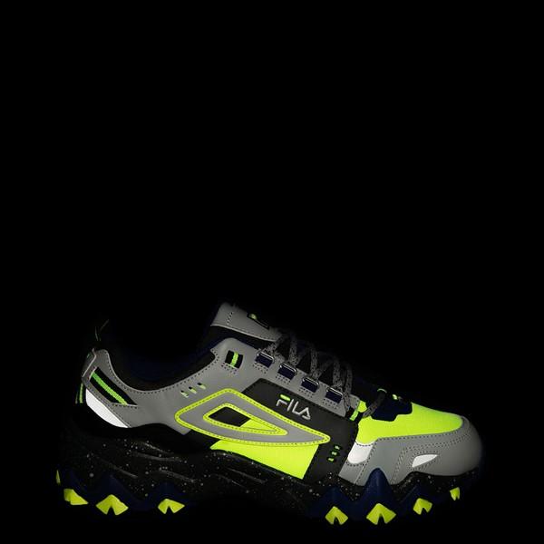 alternate view Mens Fila Oakmont TR Athletic Shoe - Safety Yellow / Dark Shadow / Mazarine BlueALT1