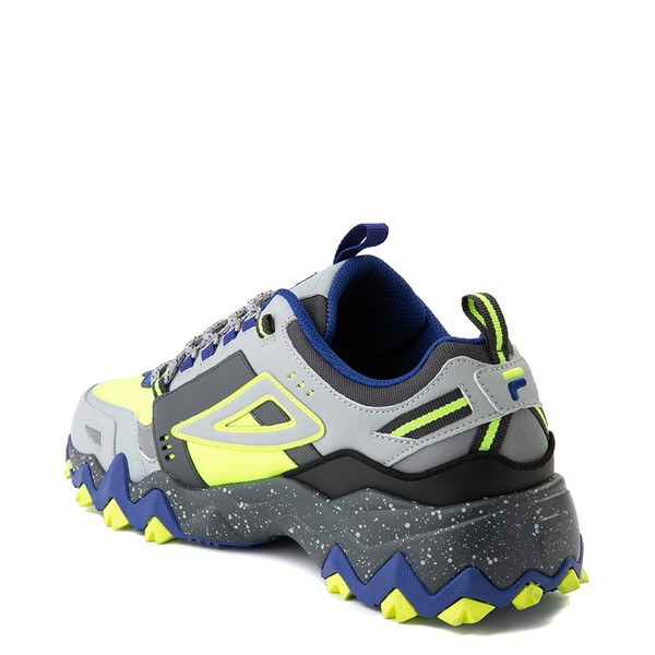 alternate view Mens Fila Oakmont TR Athletic Shoe - Safety Yellow / Dark Shadow / Mazarine BlueALT1B