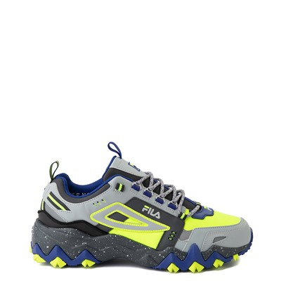 Main view of Mens Fila Oakmont TR Athletic Shoe - Safety Yellow / Dark Shadow / Mazarine Blue