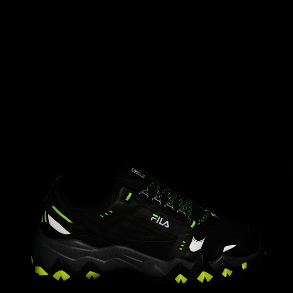 alternate view Mens Fila Oakmont TR Athletic Shoe - Black / Safety Yellow / CastlerockALT1
