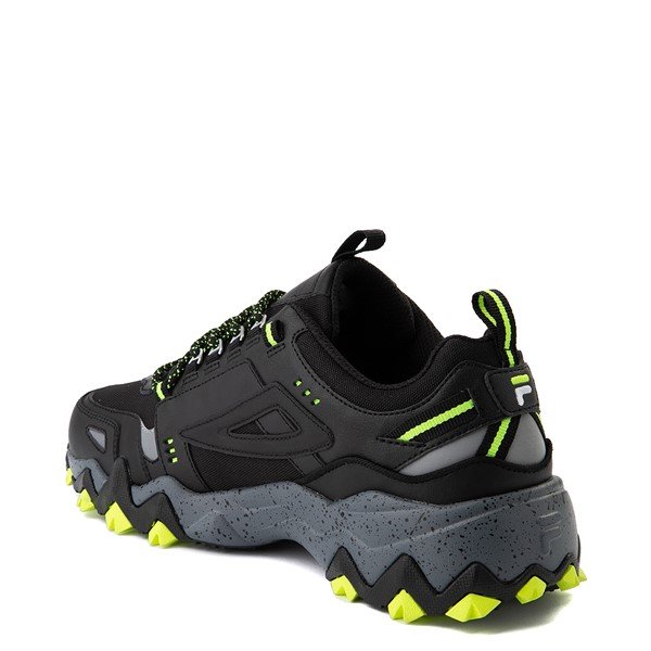 alternate view Mens Fila Oakmont TR Athletic Shoe - Black / Safety Yellow / CastlerockALT1B