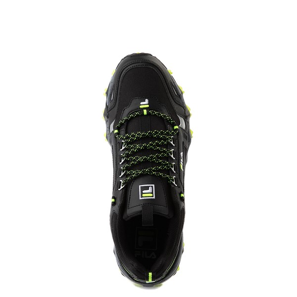 alternate view Mens Fila Oakmont TR Athletic Shoe - Black / Safety Yellow / CastlerockALT2
