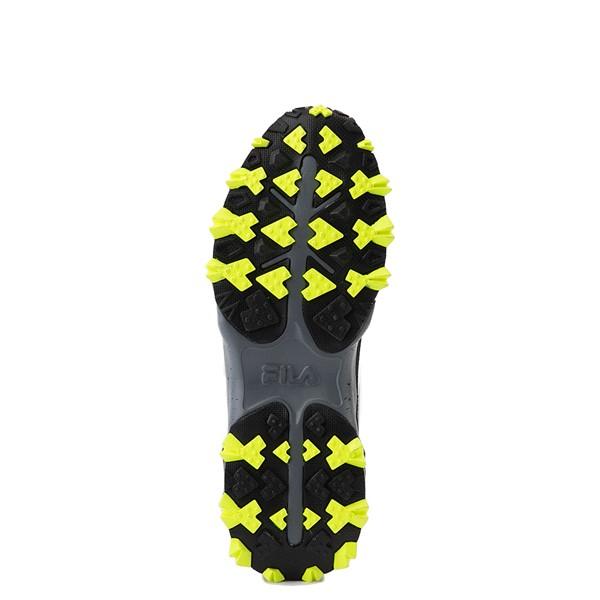 alternate view Mens Fila Oakmont TR Athletic Shoe - Black / Safety Yellow / CastlerockALT3