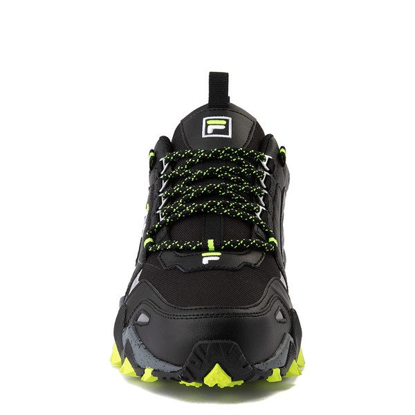 alternate view Mens Fila Oakmont TR Athletic Shoe - Black / Safety Yellow / CastlerockALT4