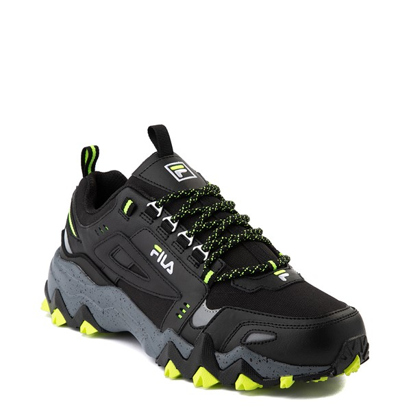 alternate view Mens Fila Oakmont TR Athletic Shoe - Black / Safety Yellow / CastlerockALT5