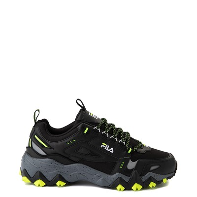 Main view of Mens Fila Oakmont TR Athletic Shoe - Black / Safety Yellow / Castlerock