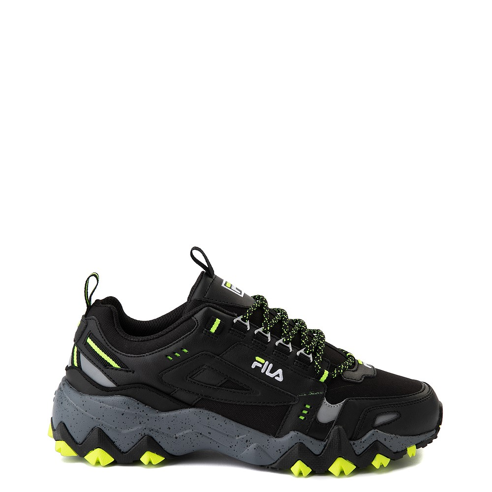 Mens Fila Oakmont TR Athletic Shoe - Black / Safety Yellow / Castlerock