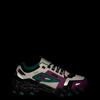 Alternate view of Mens Fila Oakmont TR Athletic Shoe - Silver Birch / Black / Purple Cactus Flower