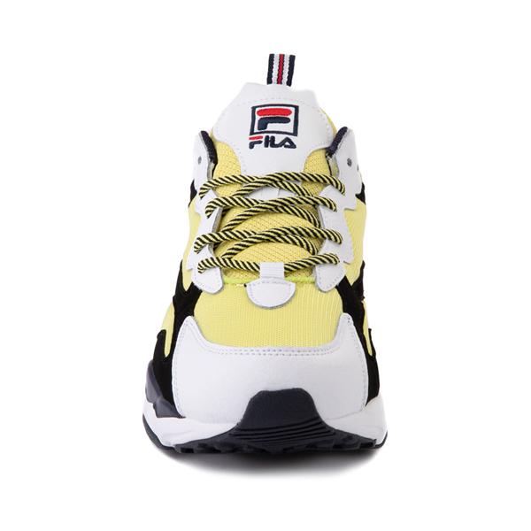 alternate view Mens Fila Ray Tracer Athletic Shoe - White / Black / LemonadeALT4