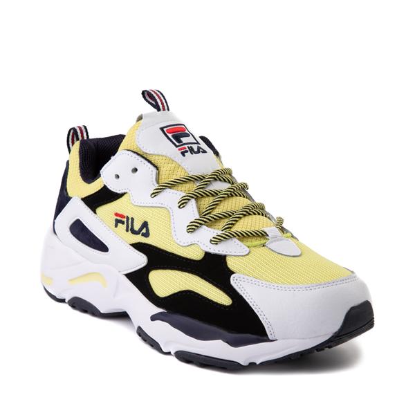 alternate view Mens Fila Ray Tracer Athletic Shoe - White / Black / LemonadeALT5