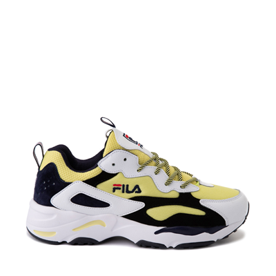 Main view of Mens Fila Ray Tracer Athletic Shoe - White / Black / Lemonade
