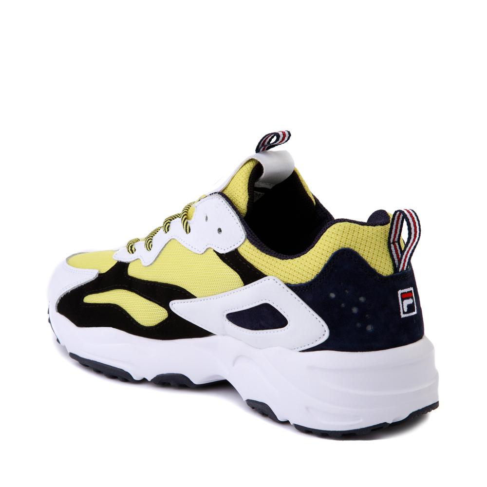 Mens Fila Ray Tracer Athletic Shoe White Black Lemonade