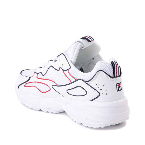 alternate view Mens Fila Ray Tracer Athletic Shoe - White / Navy / RedALT1
