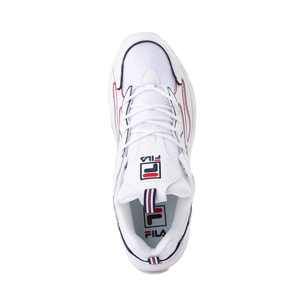alternate view Mens Fila Ray Tracer Athletic Shoe - White / Navy / RedALT2