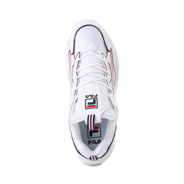 alternate view Mens Fila Ray Tracer Athletic Shoe - White / Navy / RedALT2