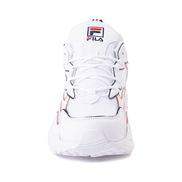 alternate view Mens Fila Ray Tracer Athletic Shoe - White / Navy / RedALT4