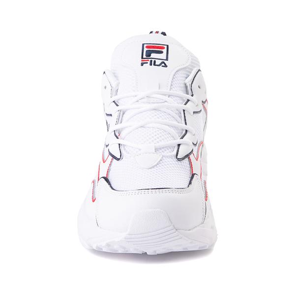 alternate view Mens Fila Ray Tracer Athletic Shoe - White / Navy / RedALT4