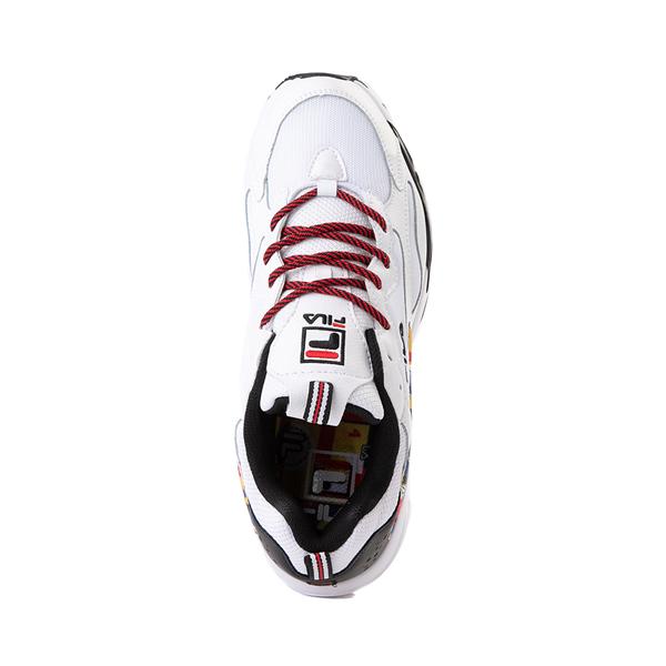 alternate view Mens Fila Ray Tracer Archive Athletic Shoe - White / Black / FireALT2
